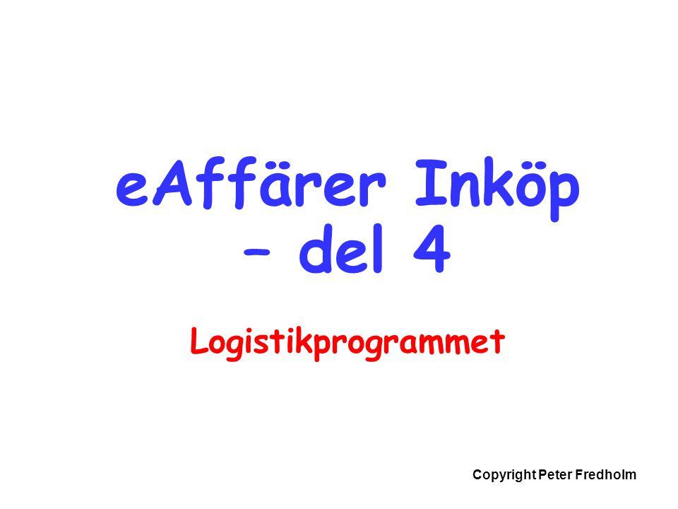 eAffärer Inköp – del 4 Logistikprogrammet