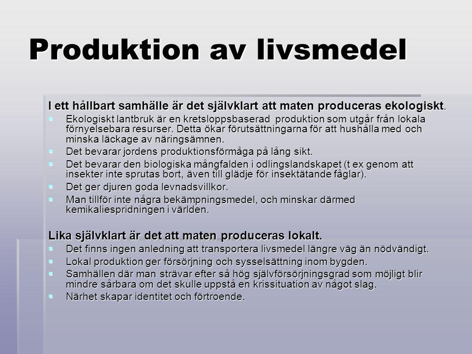 Produktion av livsmedel