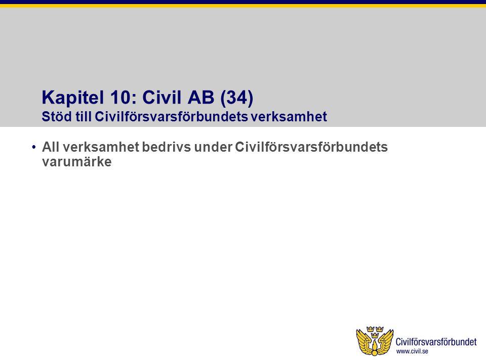 Kapitel 10: Civil AB (34) Stöd till Civilförsvarsförbundets verksamhet