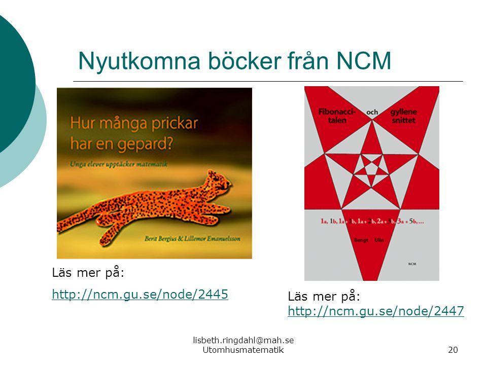 Nyutkomna böcker från NCM