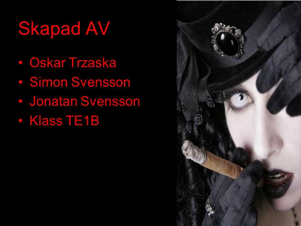 Skapad AV Oskar Trzaska Simon Svensson Jonatan Svensson Klass TE1B