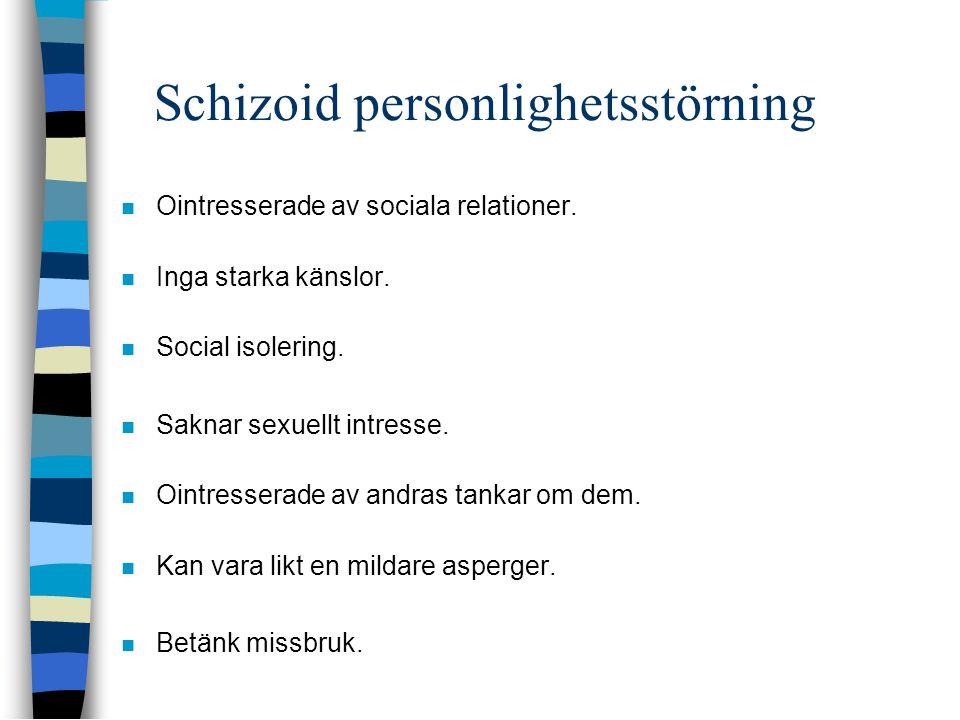Schizoid personlighetsstörning