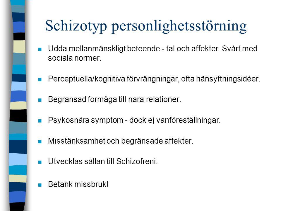 Schizotyp personlighetsstörning