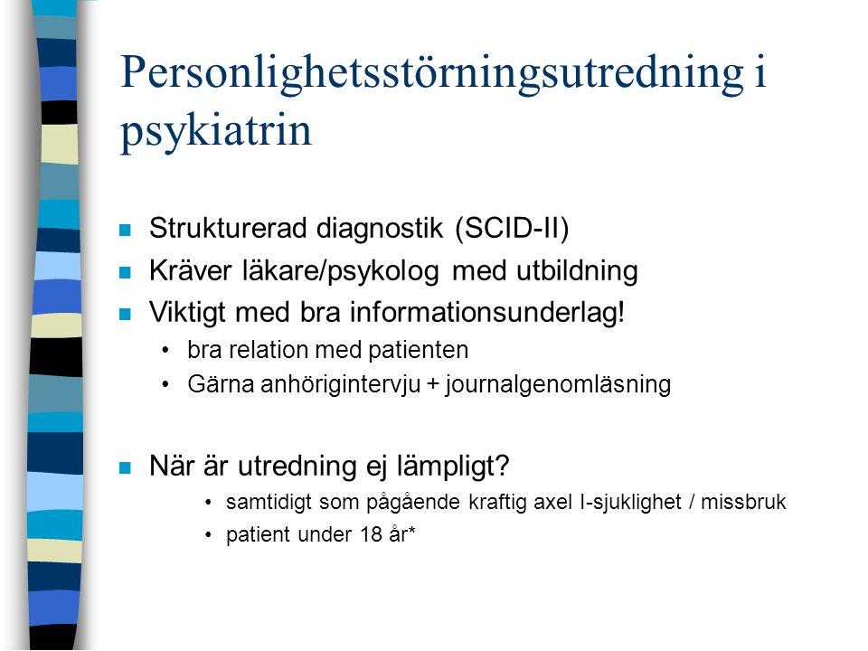 Personlighetsstörningsutredning i psykiatrin
