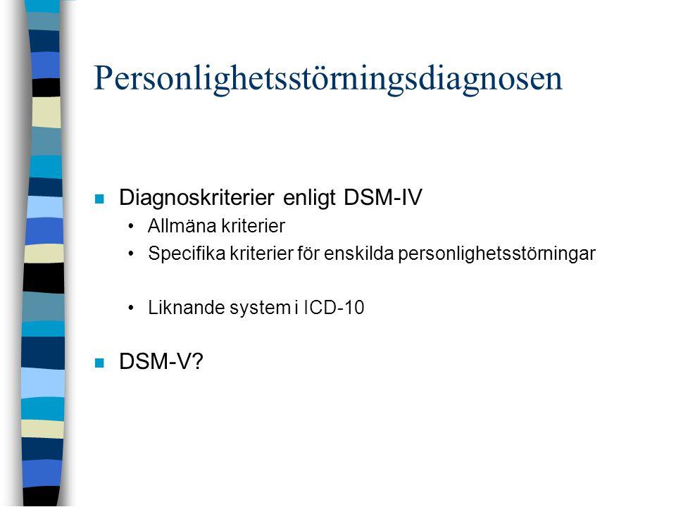 Personlighetsstörningsdiagnosen