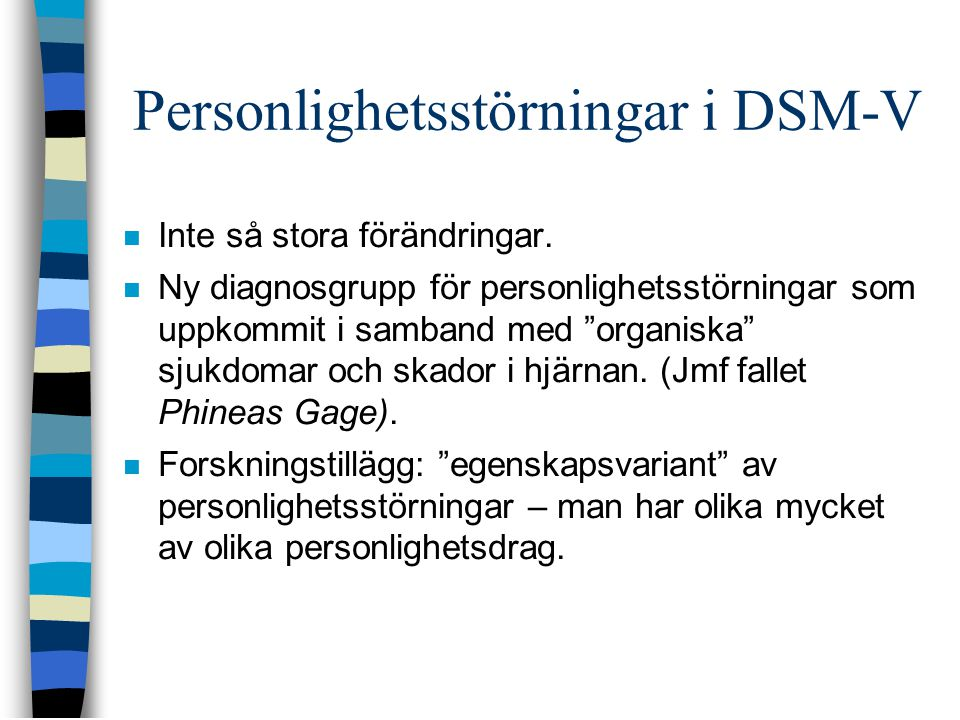 Personlighetsstörningar i DSM-V