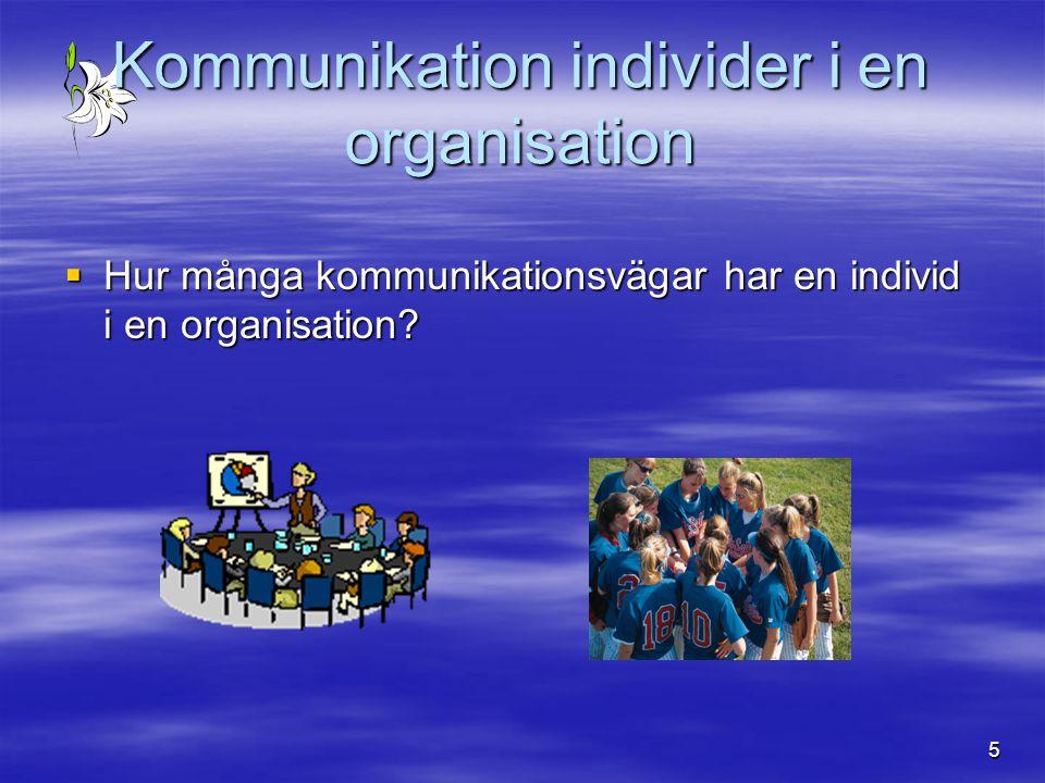 Kommunikation individer i en organisation