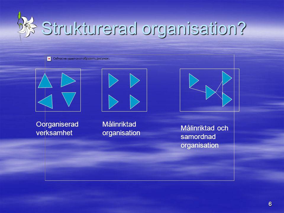 Strukturerad organisation