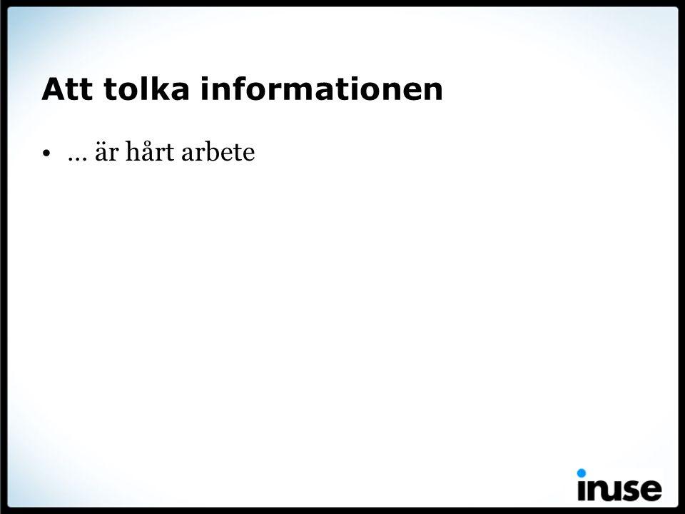 Att tolka informationen