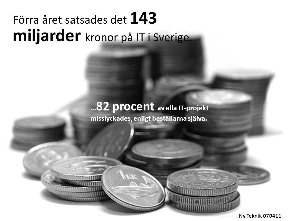 Förra året satsades det 143 miljarder kronor på IT i Sverige.