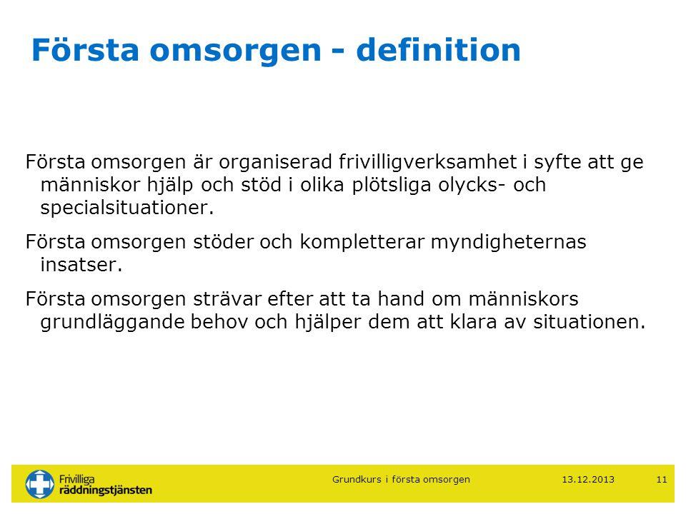 Första omsorgen - definition