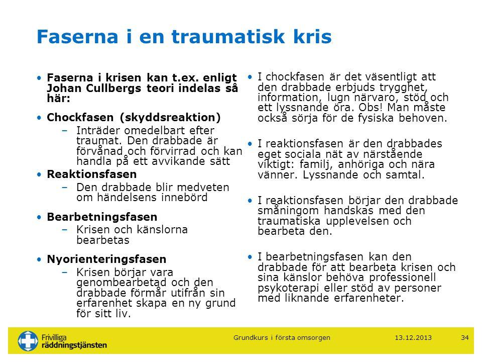Faserna i en traumatisk kris