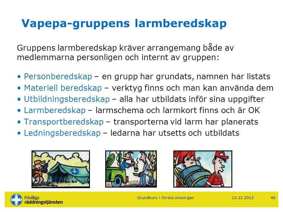 Vapepa-gruppens larmberedskap