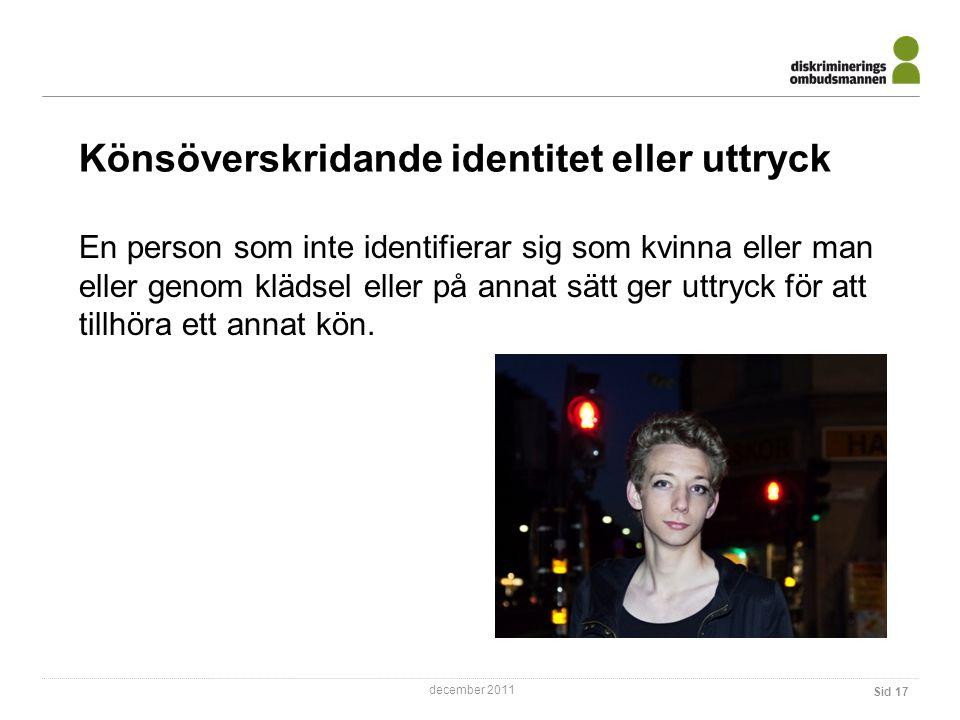 Könsöverskridande identitet eller uttryck