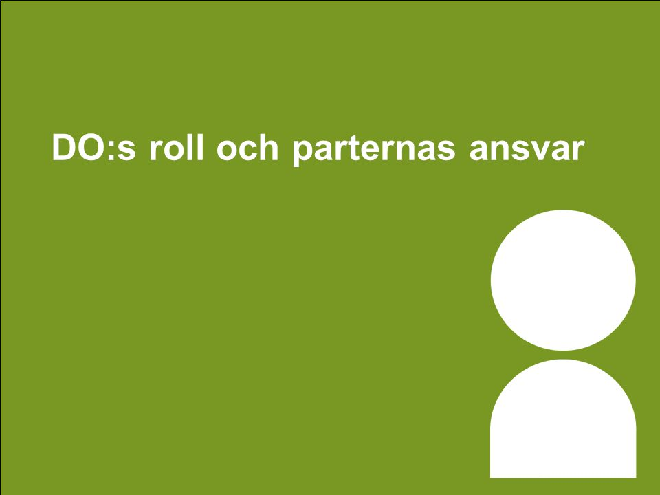 DO:s roll och parternas ansvar