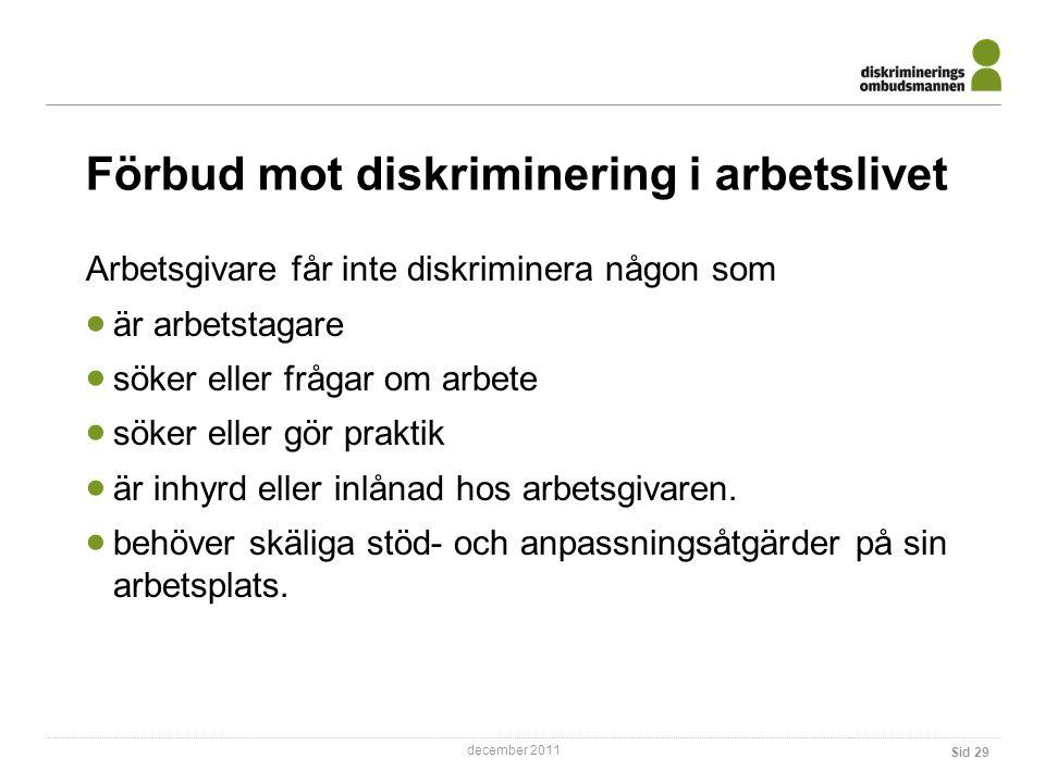 Förbud mot diskriminering i arbetslivet