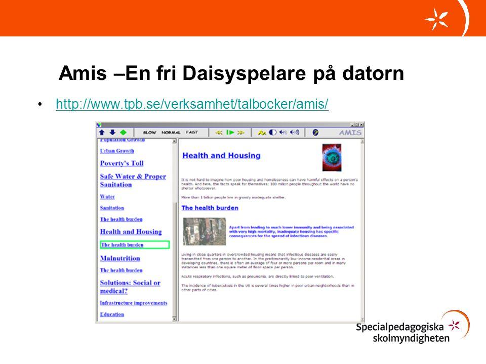 Amis –En fri Daisyspelare på datorn