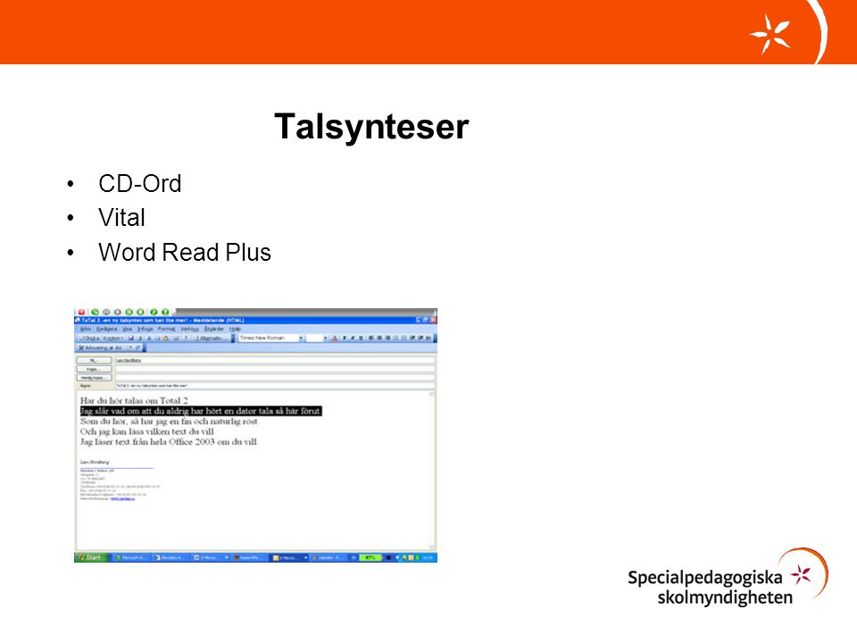 Talsynteser CD-Ord Vital Word Read Plus