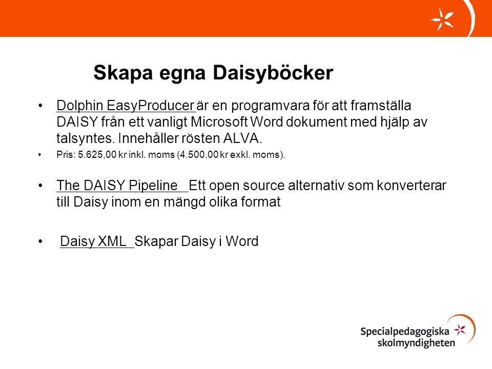 Skapa egna Daisyböcker