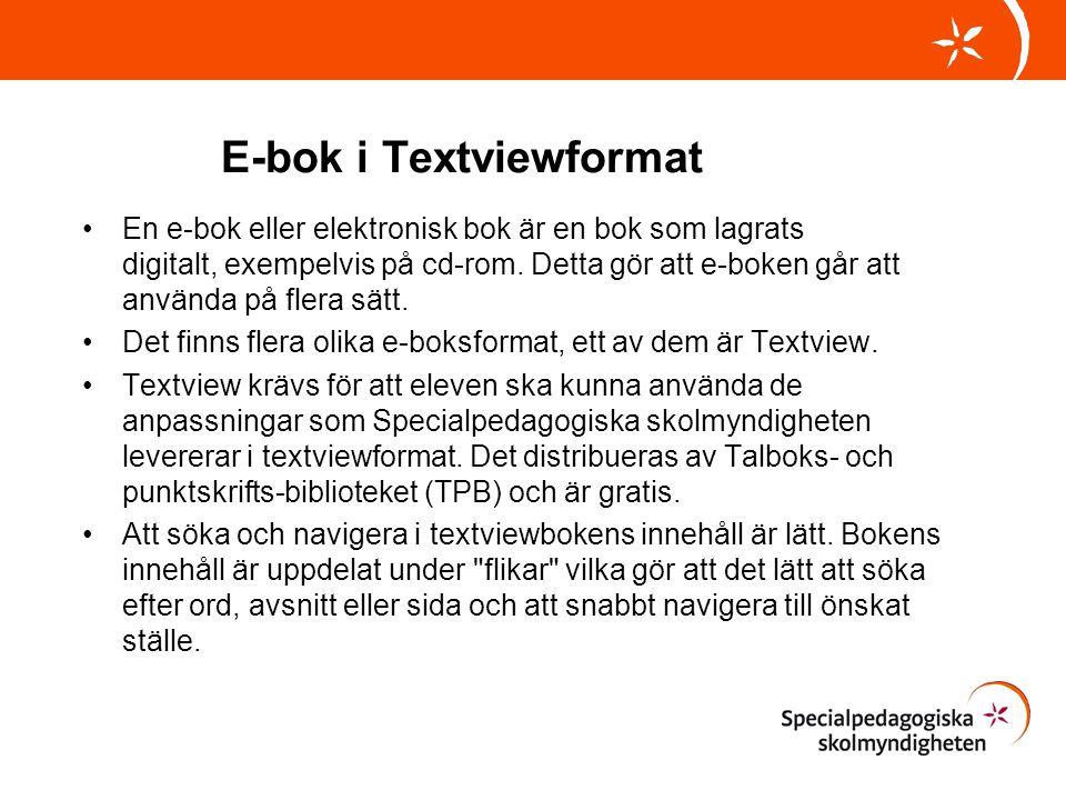 E-bok i Textviewformat