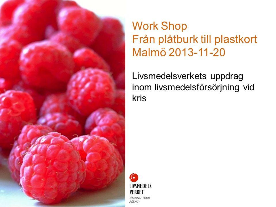 Work Shop Från plåtburk till plastkort Malmö 2013-11-20