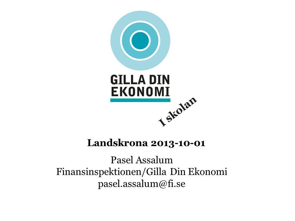 Pasel Assalum Finansinspektionen/Gilla Din Ekonomi