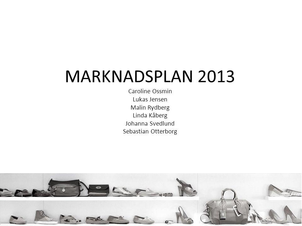 MARKNADSPLAN 2013 Caroline Ossmin Lukas Jensen Malin Rydberg Linda Kåberg Johanna Svedlund Sebastian Otterborg