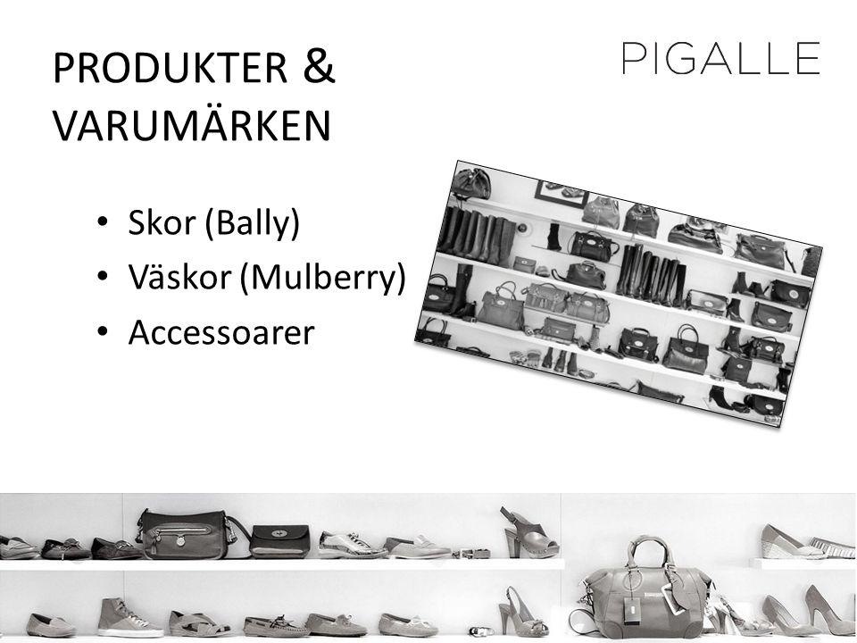 PRODUKTER & VARUMÄRKEN