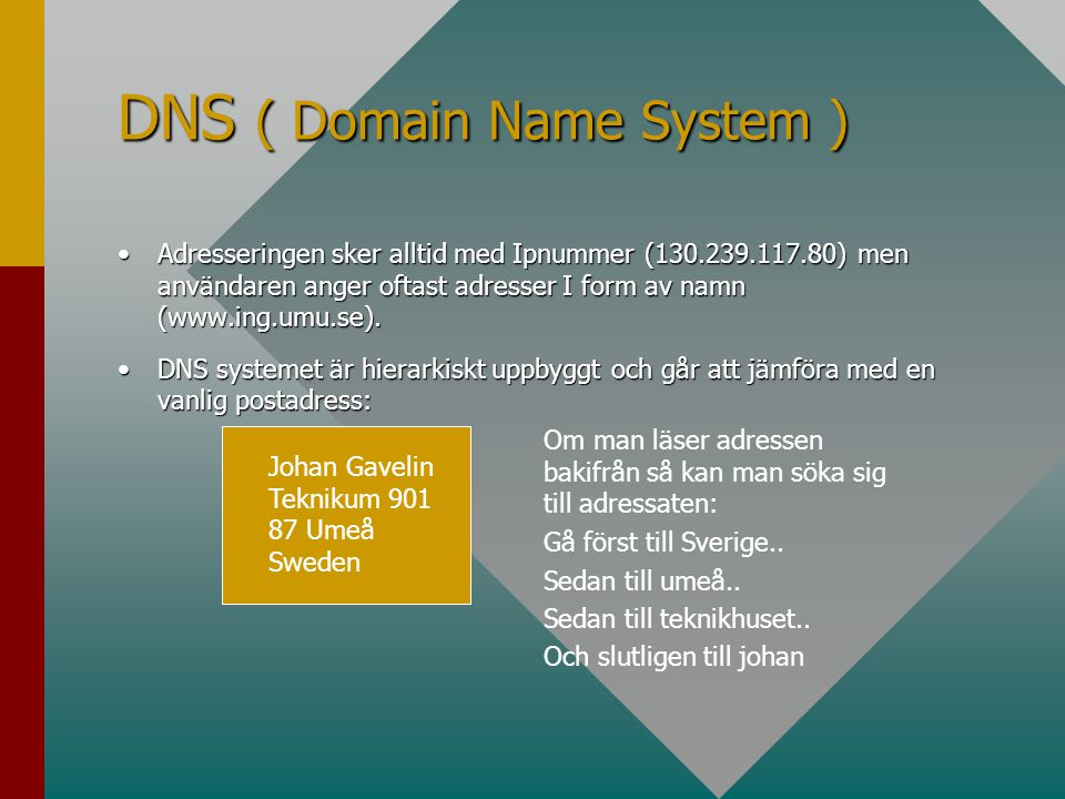 DNS ( Domain Name System )