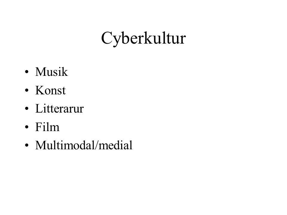 Cyberkultur Musik Konst Litterarur Film Multimodal/medial