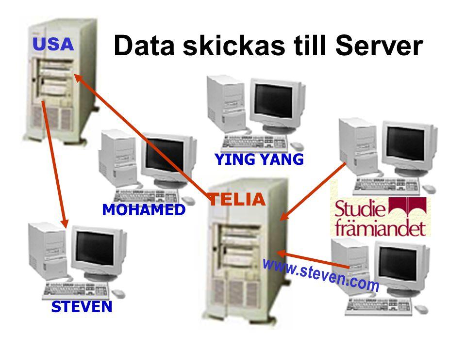 Data skickas till Server