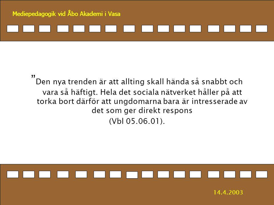 Mediepedagogik vid Åbo Akademi i Vasa