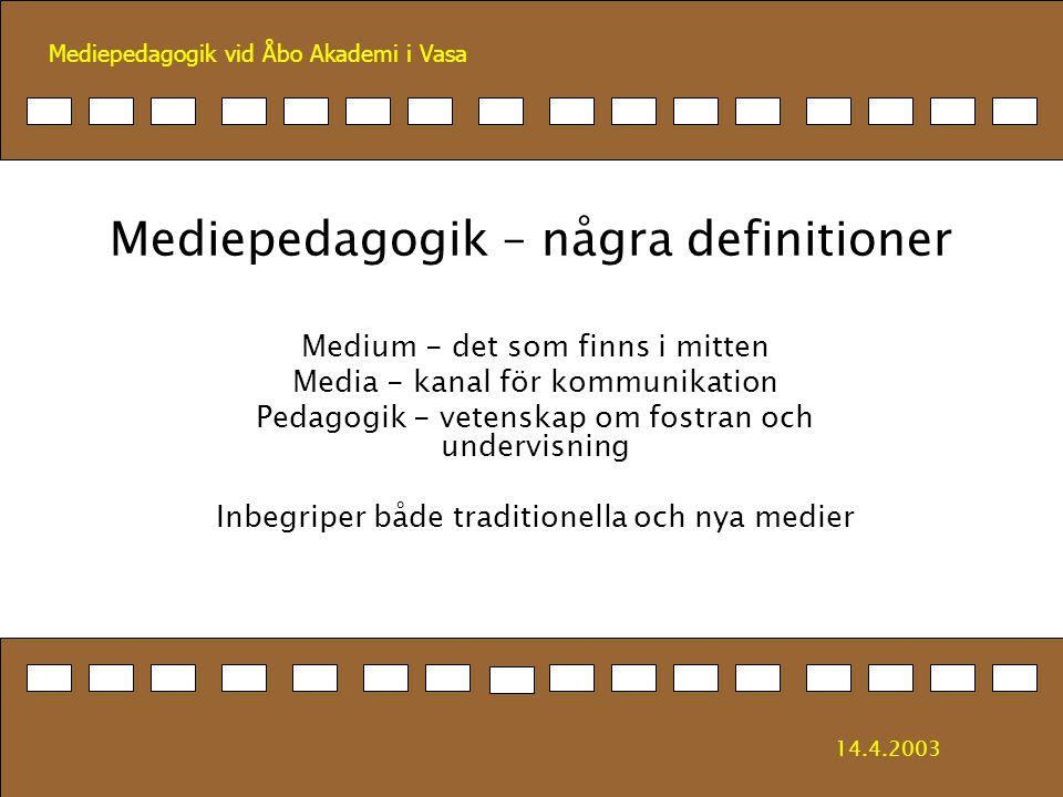 Mediepedagogik – några definitioner