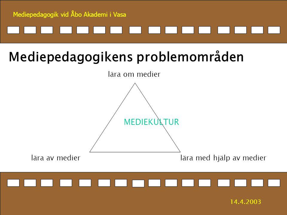 Mediepedagogikens problemområden