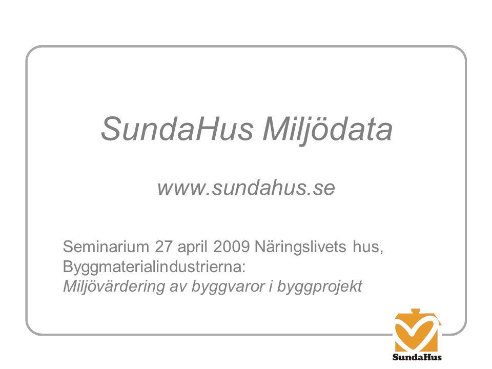 SundaHus Miljödata www.sundahus.se
