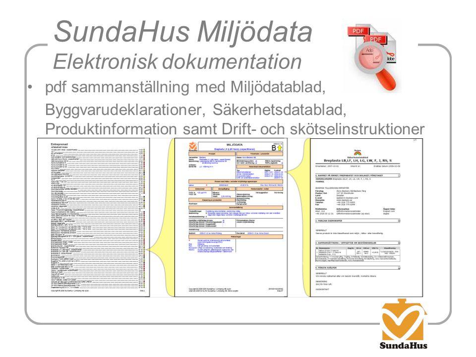 SundaHus Miljödata Elektronisk dokumentation