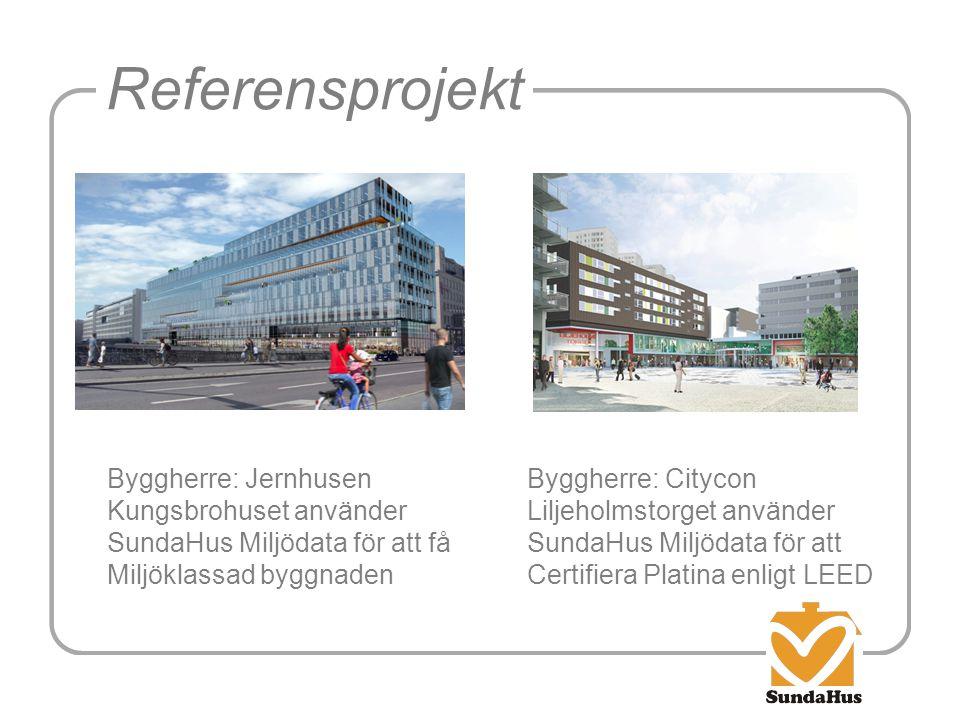 Referensprojekt Byggherre: Jernhusen Kungsbrohuset använder