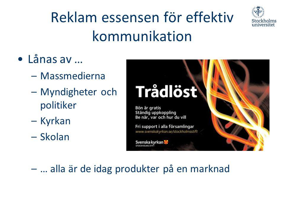 Reklam essensen för effektiv kommunikation