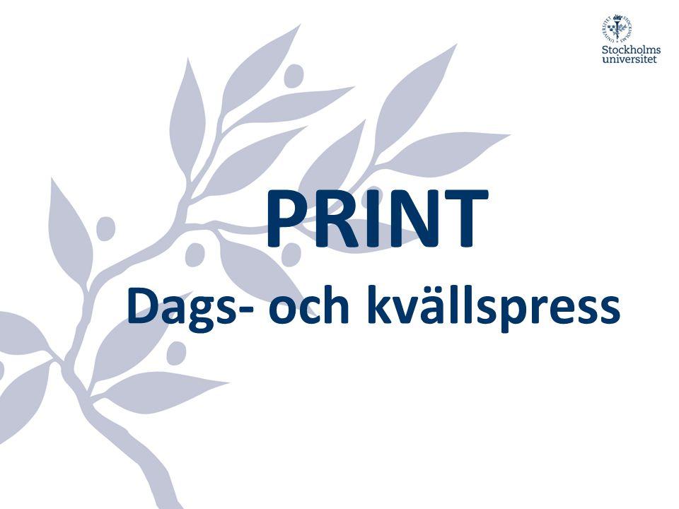 PRINT Dags- och kvällspress