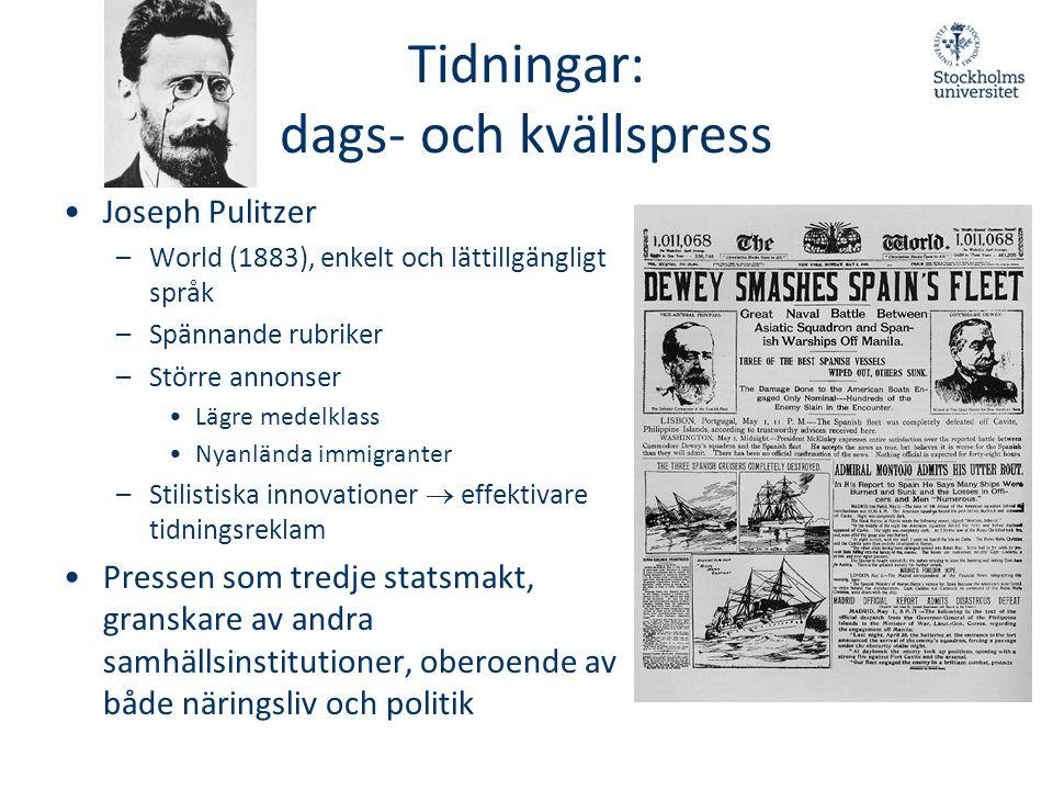 Tidningar: dags- och kvällspress