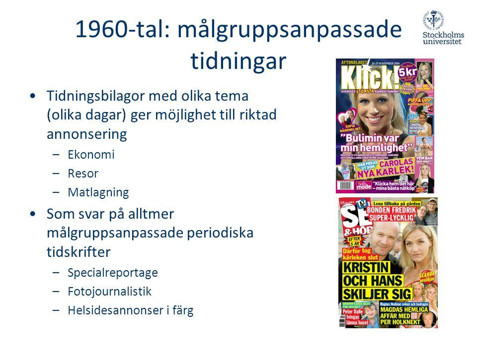 1960-tal: målgruppsanpassade tidningar