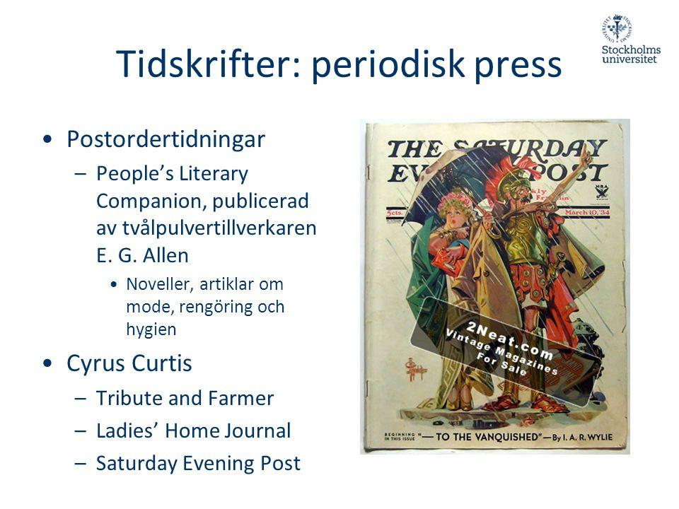 Tidskrifter: periodisk press