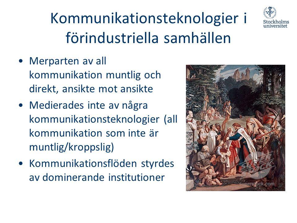 Kommunikationsteknologier i förindustriella samhällen