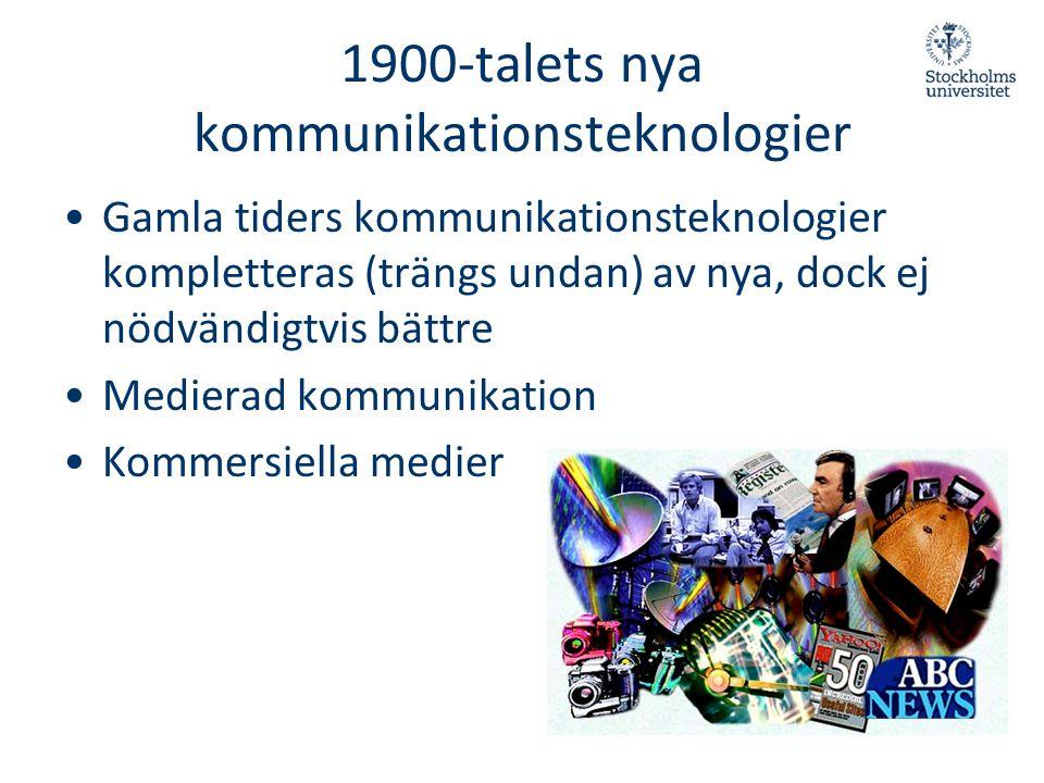 1900-talets nya kommunikationsteknologier