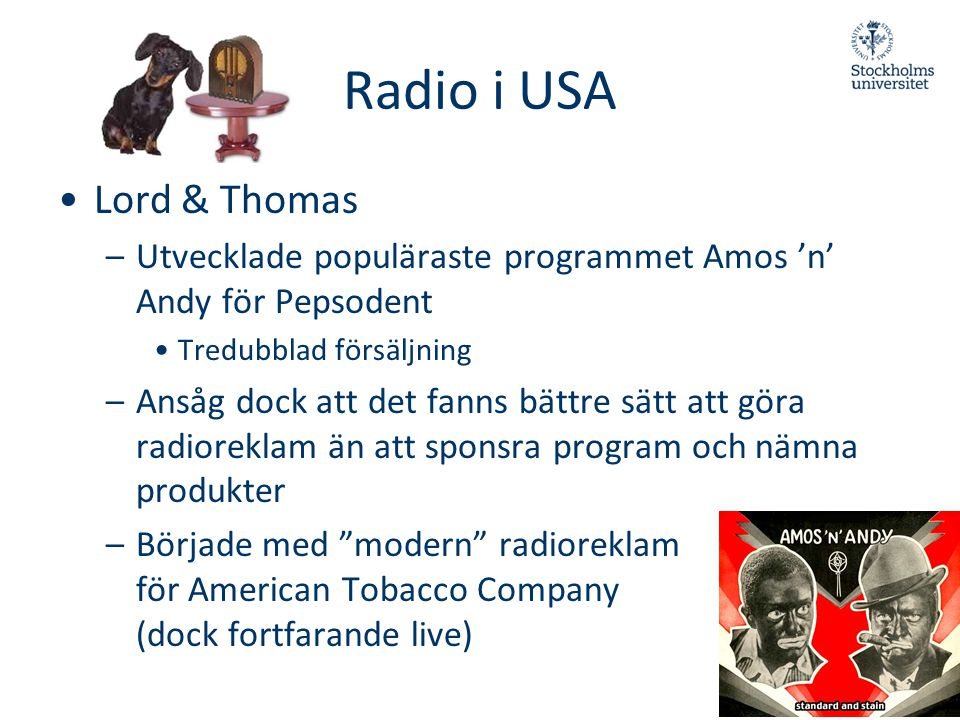 Radio i USA Lord & Thomas