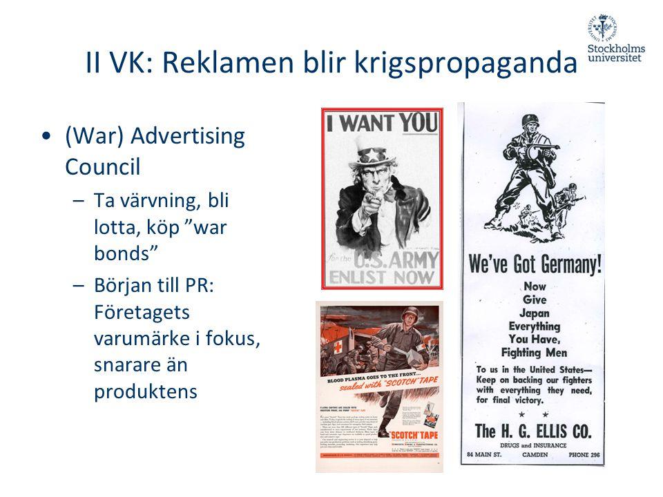 II VK: Reklamen blir krigspropaganda