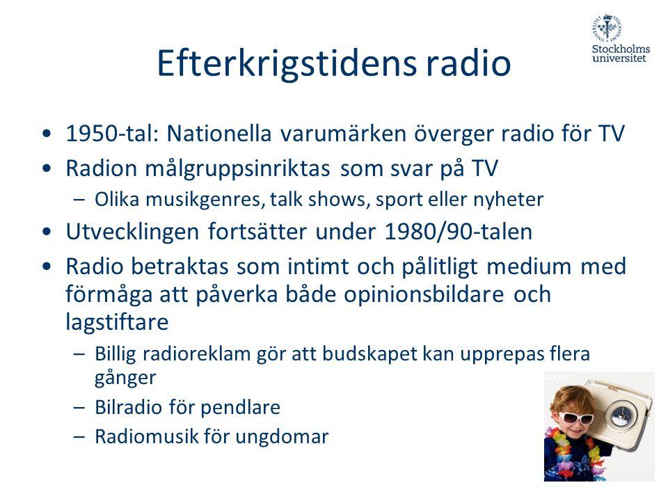 Efterkrigstidens radio