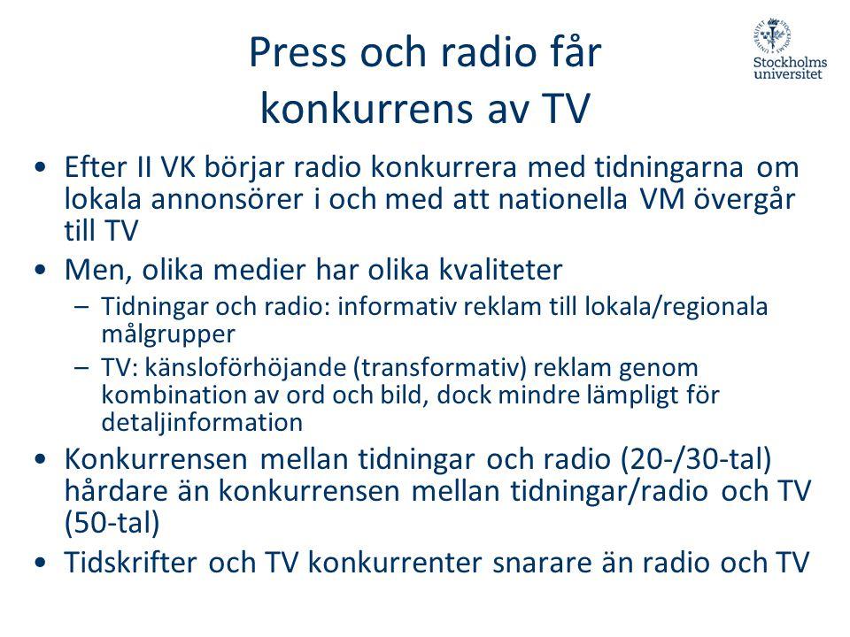 Press och radio får konkurrens av TV