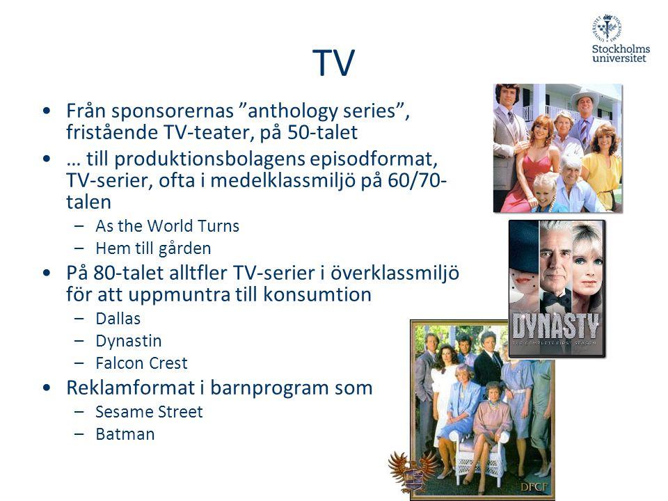 TV Från sponsorernas anthology series , fristående TV-teater, på 50-talet.