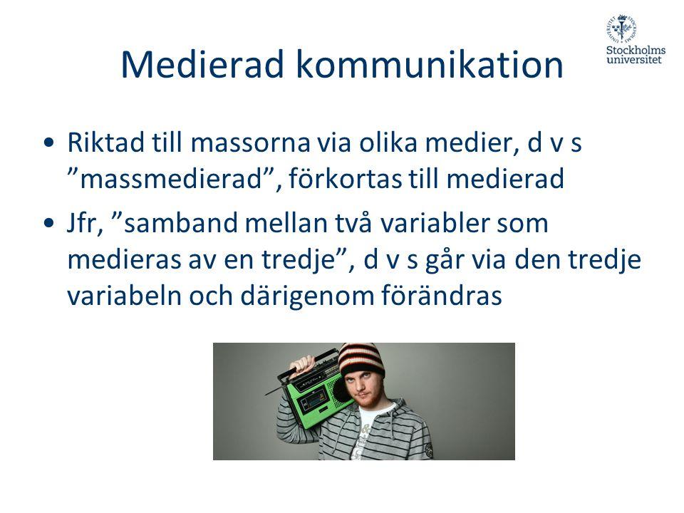 Medierad kommunikation
